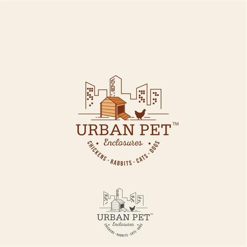 "Simple & Clever Logo for ""Urben Pet Encolsures"""