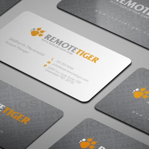 Business Card for RemoteTiger