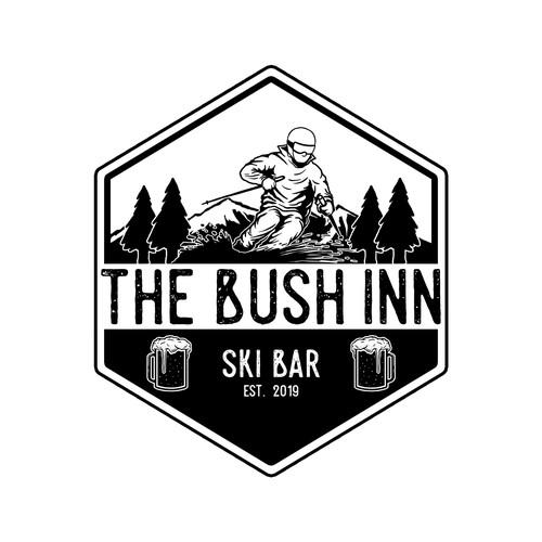 vector logo for The Bush Inn Ski Bar