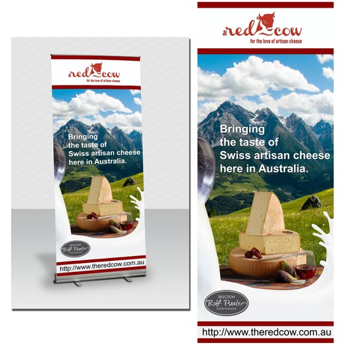 Promotional Billboard and signboard for a Swiss Artisan cheese.