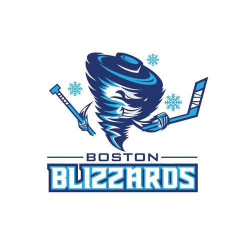 Boston Blizzards  logo hockey team