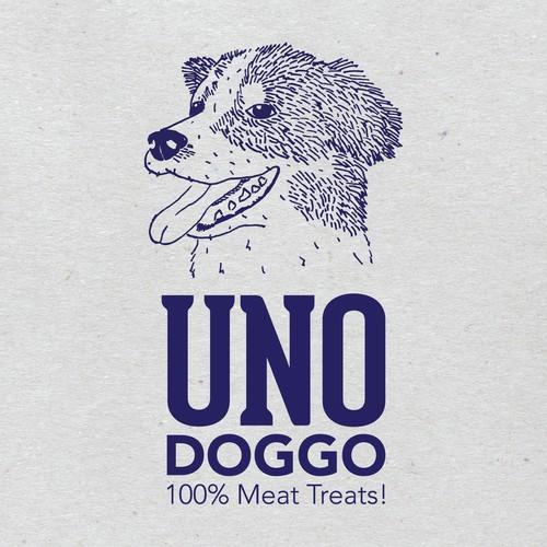 Illustrated Logo for Dog Treat Brand