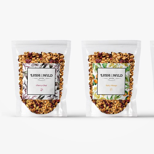 Lush and Wild - Granola branding design