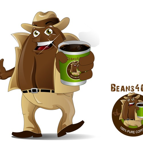 Coffee Bean Mascot