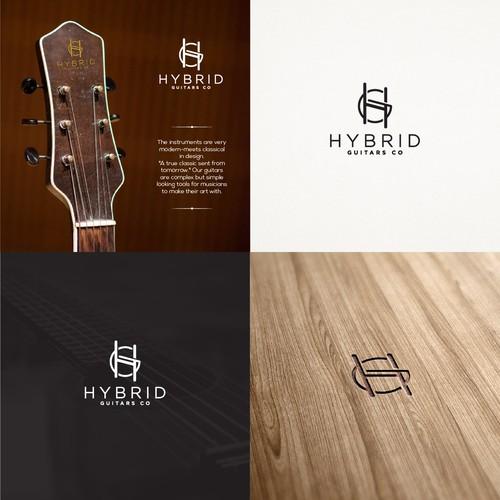 Logo concept for Hybrid Guitars