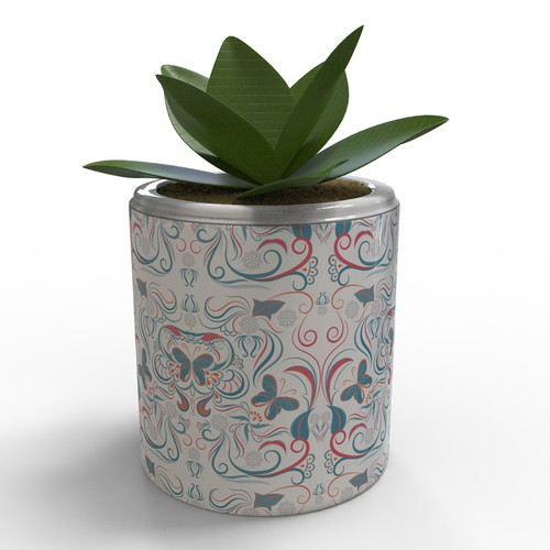 butterfly pattern for flowerpot