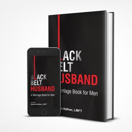Black Belt Husband cover book design concept