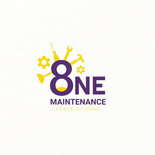 ''8 One Maintenance'' company logo