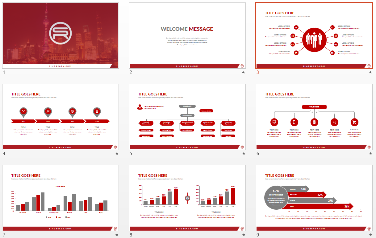 SinoReady PowerPoint Template