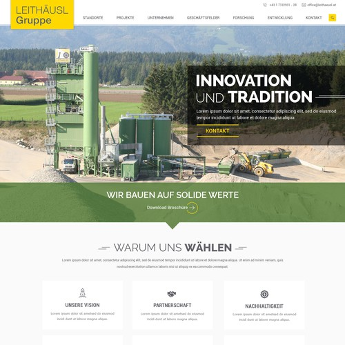 New homepage for - Austrian family business in the construction industry