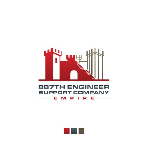 887th Engineer Contruction logo