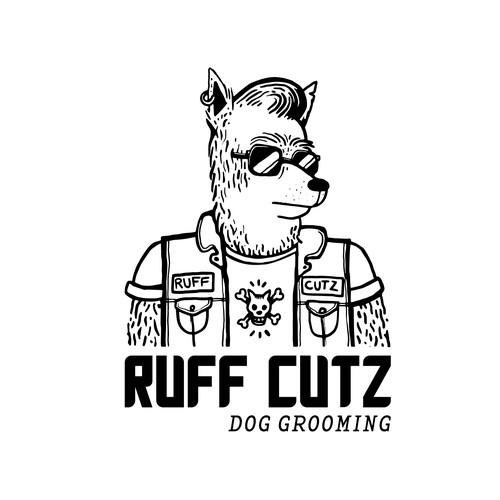 Logo concept for a dog groomer