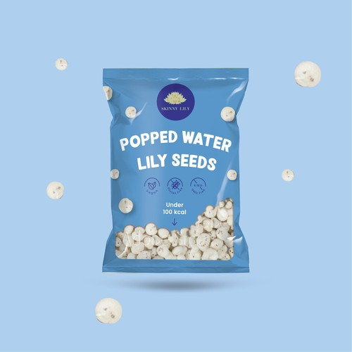 Healthy snack - popped water lily seeds product design