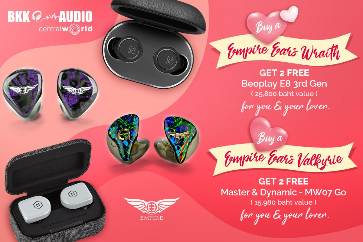 Banners ads Valentine's Days buy Empire Ears Wraith, Valkyrie get free 2 Truely Wireless