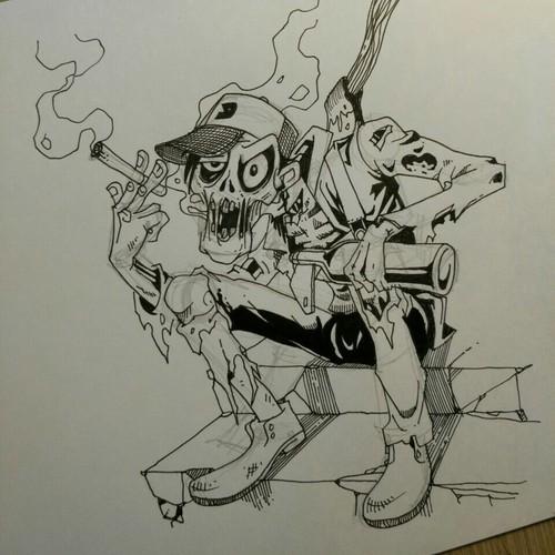Drug Drunk Zombie