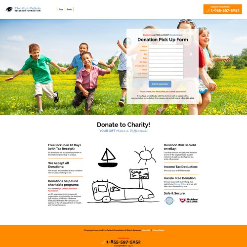 the eye defects web design