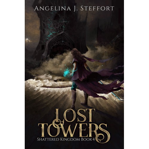 Book cover illustration for Shattered Kingdom Book 4