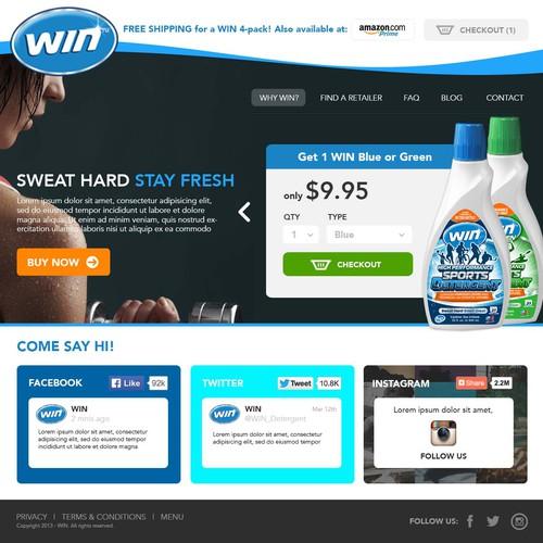 Fresh website design - WIN