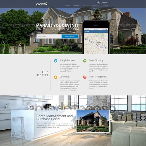 GrowTix Parades Website platform
