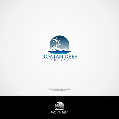 Logo concept of ROATAN REEF REALTY