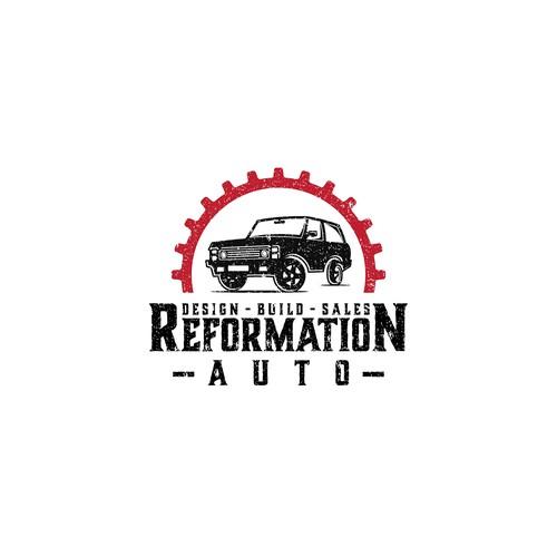 Logo concept for custom car company