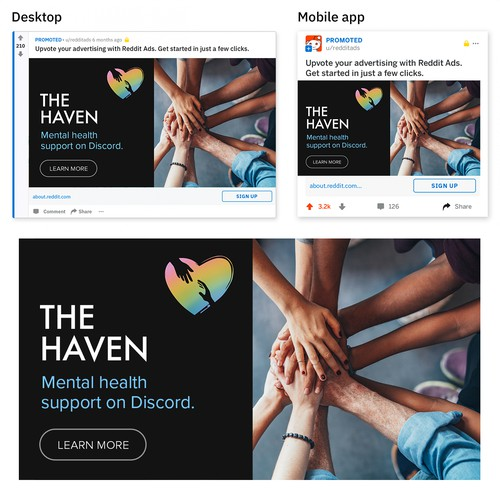 Social Media Ads for Mental Health Discord