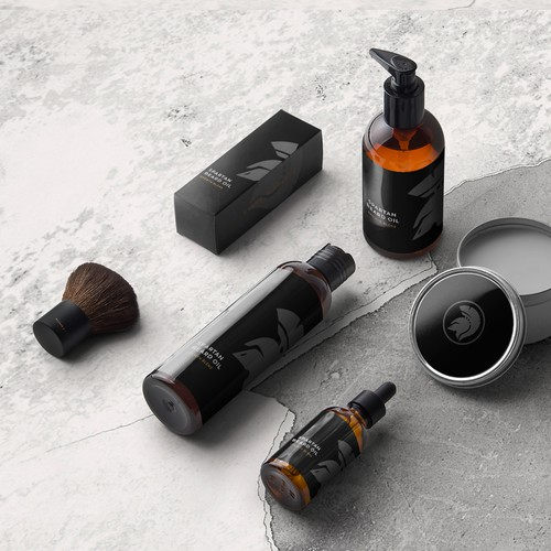 minimal packaging design for beard product