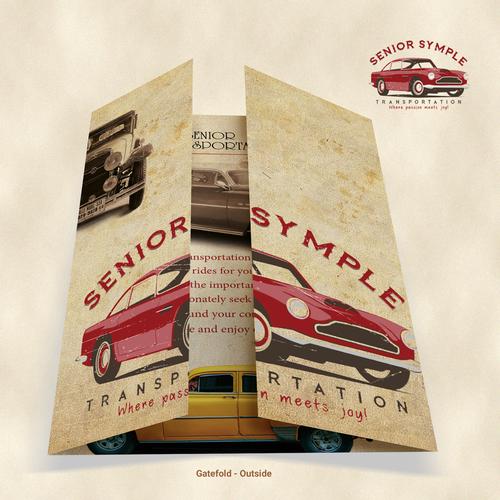 Vintage gatefold brochure designs