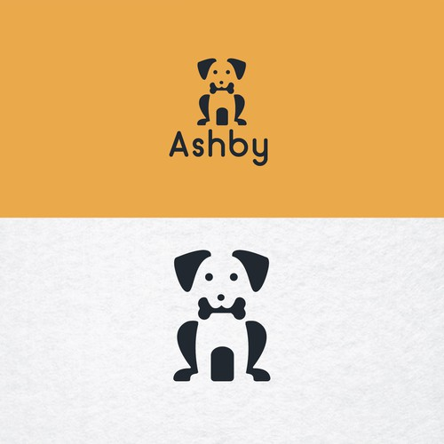 Negative space logo for Ashby