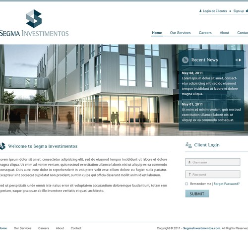 Segma Investments needs a new website design