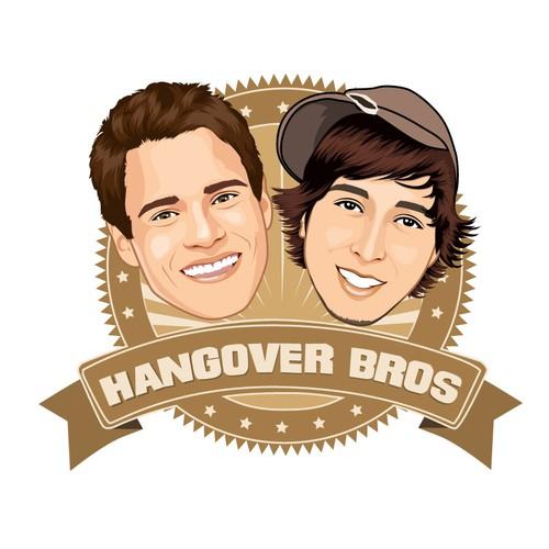 Re-Create our Exact Logo in Vector! Hangover Bros.