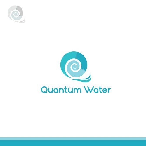 Q and wave logo for Quantum Water