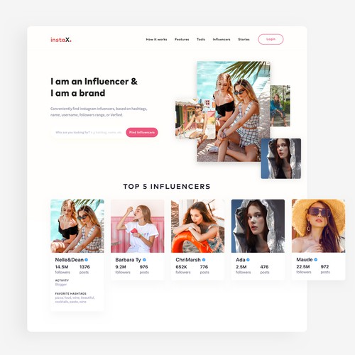 Instagram Influencer and Brand Search Website