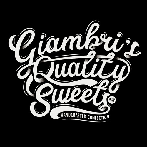 Giambri's Quality Sweets Text Typography