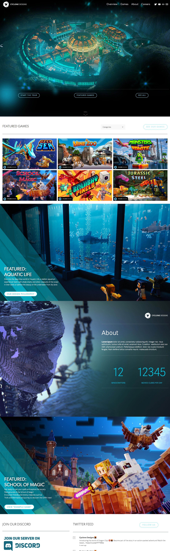 Game studio website redesign - CycloneDesigns