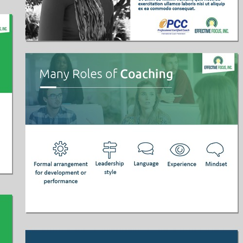 Design concept for a Coaching presentation