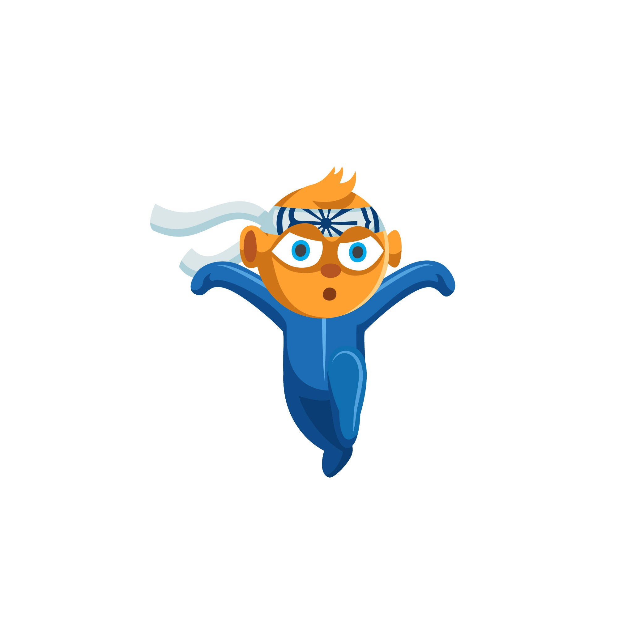 Mascot as karate kid