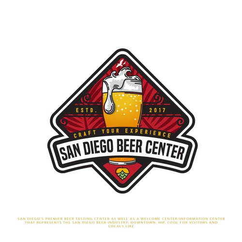 Logo: Surf Shop Meets Craft Beer Pub: San Diego's premier beer tasting center needs identity
