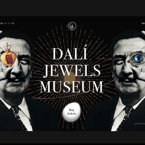 Dali Jewels Museum Website Concept