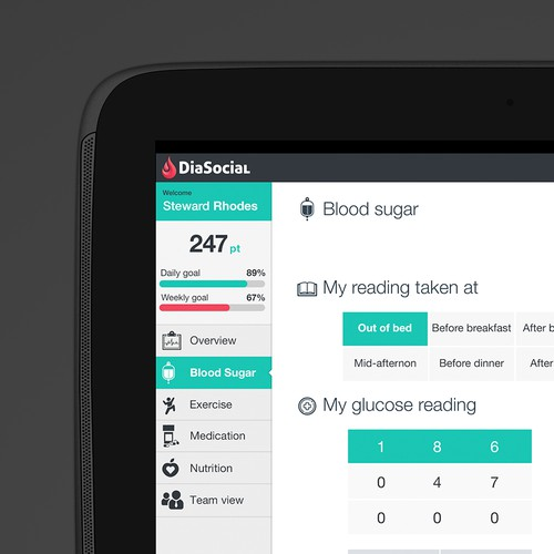 Design UI for our Cool Diabetes Gaming App
