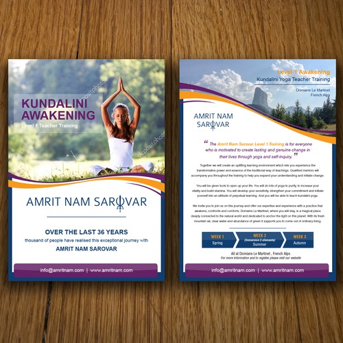 flyer for KundaliniYOGA Awakening International training