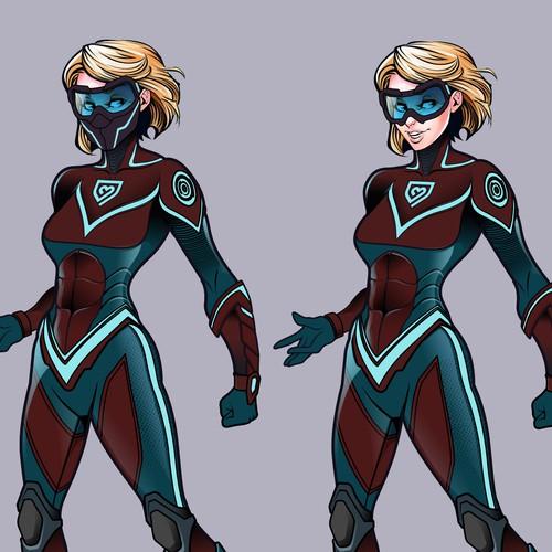 Superhero character costume