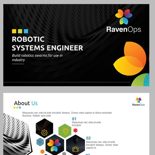 Appealing and Crispy design for a robotic company
