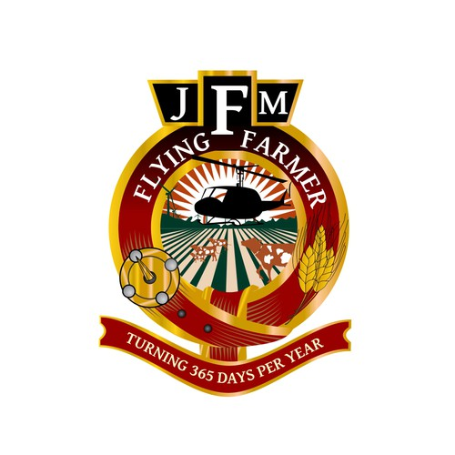Flying Farmer-JFM  (John F Mckenzie-name not on logo just initials) needs a new logo and business card
