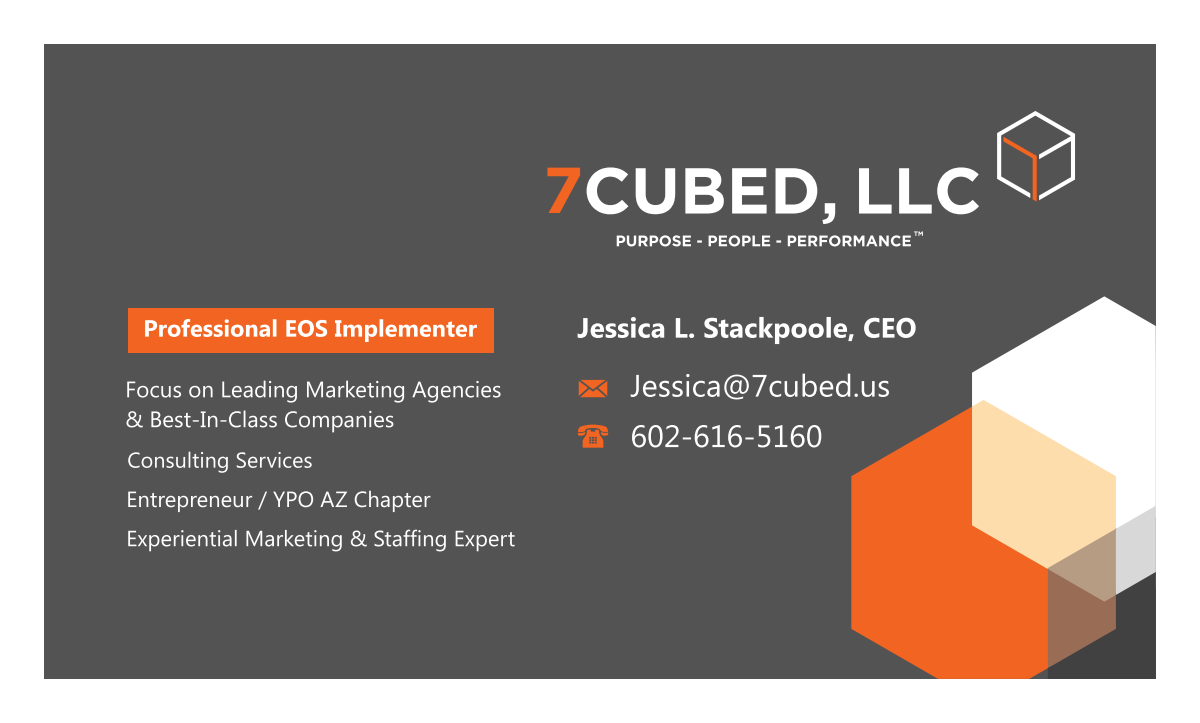 Business card for 7 Cubed