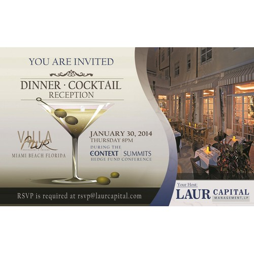Simple Event Flyer - Hosted Dinner - Clean & Professional