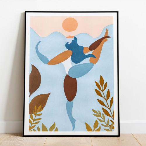 Yoga Illustration for art print