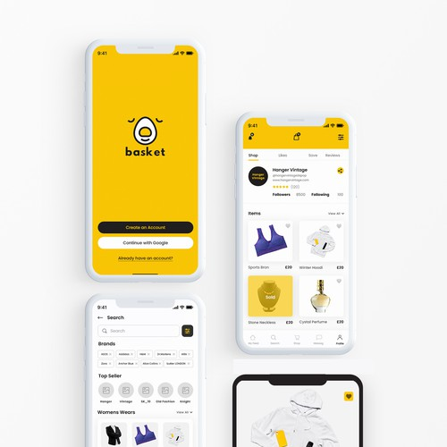Basket shopping App Design