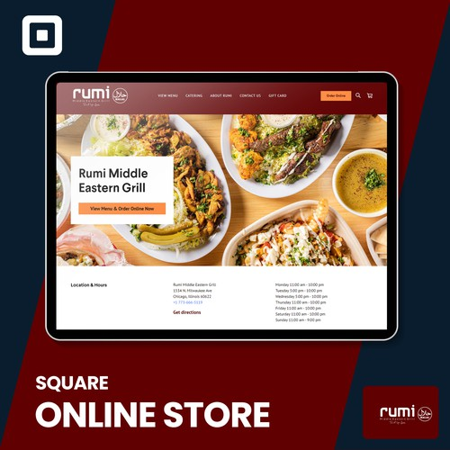 Rumi Grill Square online ordering site