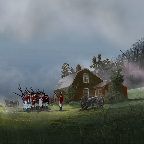 Re-create the American Revolutionary war from 1776 in a game setting with characters